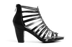 Stylish high heeled shoe. On a white bg stock image