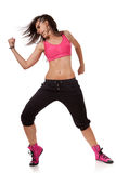 Stylish hip-hop dancer showing biceps Stock Photo