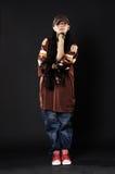 Stylish hip hop girl with dreadlocks Stock Photo