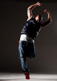 Stylish hip-hop man dancing Stock Image