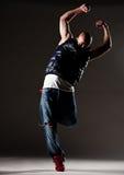 Stylish hip-hop man dancing Stock Image