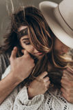 Stylish hipster couple gently hugging. man in hat  embracing tou Stock Images