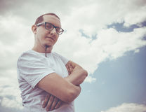 Stylish hipster man Royalty Free Stock Images