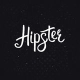 Stylish Hipster Text on Abstract Black Background Stock Photos