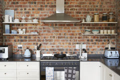 Stylish Home Interior With Open Plan Kitchen Royalty Free Stock Photos