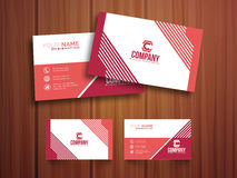 Stylish horizontal business card or visiting card. Royalty Free Stock Image