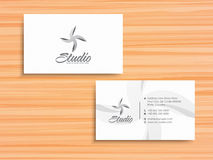 Stylish horizontal business card or visiting card. Royalty Free Stock Photography