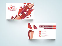 Stylish horizontal business card or visiting card. Royalty Free Stock Photo