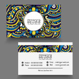 Stylish horizontal business card or visiting card. Stock Photography