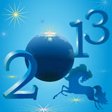 Stylish horse and New Year symbols. Stylish horse and 2013 New Year symbols Stock Images