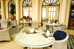 Stylish hotel interior view Royalty Free Stock Photo