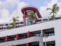 Stylish Hotel in the Lido District of Funchal on the island of Madeira. Funchal is packed with beautiful stylish hotels to cater for all prices and expectations Stock Photos