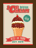 Stylish ice cream menu card design. Royalty Free Stock Image