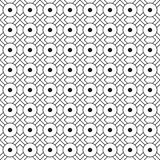 Stylish Illusion Black And White Geometric Graphic Pattern Vector Royalty Free Stock Photo