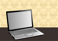 Stylish illustration of a laptop Stock Images
