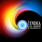 Stylish indian flag background Stock Images