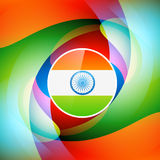 Stylish indian flag background. Stylish indian flag wave background Stock Photo