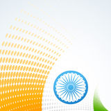 Stylish indian flag design Stock Image