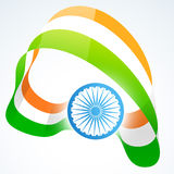 Stylish indian flag design. Stylish indian vector flag design art Stock Photos