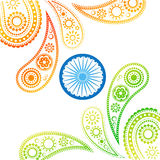 Stylish indian flag Royalty Free Stock Photos