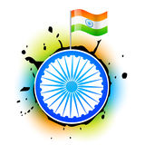 Stylish indian flag Royalty Free Stock Photo