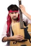 Stylish Indian Guitarist Royalty Free Stock Photo