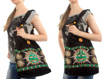 Stylish Indian Handbag Stock Photo