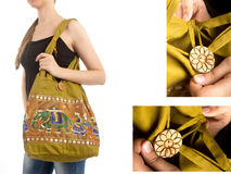 Stylish Indian Handbag Stock Image