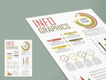 Stylish infographics template for business. Stylish business infographics template layout with different graphs to show your data Royalty Free Stock Photos
