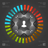 Stylish Infographics Vector Template. Circles Chart. Vector EPS10 Concept Illustration Design Stock Images