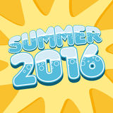 Stylish inscription Summer 2016. Vector. Vector phrase the Summer of 2016 on a yellow background Stock Photo