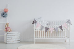 Stylish interior of baby`s room