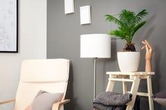 Stylish interior design with leaves. Stylish interior design with tropical leaves royalty free stock photo