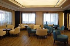 Stylish interior of hall in the Turkish hotel. Stock Photo
