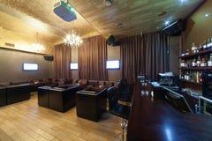 Stylish interior of karaoke bar Stock Photos