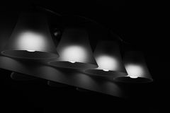 Stylish interior lighting. Fixture in Monochrome Royalty Free Stock Photos
