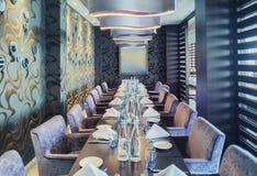 Stylish interior of restaurant. Detail of stylish interior of restaurant Royalty Free Stock Images