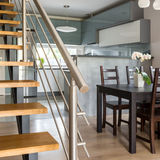 Stylish interior with stairs Stock Photo