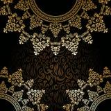 Stylish invitation with round lace pattern Stock Photo