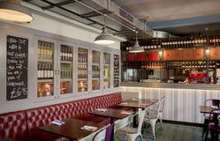 Stylish Italian restaurant Stock Photo