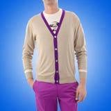 Stylish jacket on model Royalty Free Stock Images