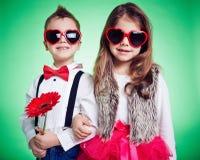 Stylish kids Stock Photo