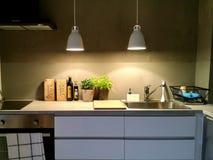 Stylish Kitchen. Interior design Royalty Free Stock Image