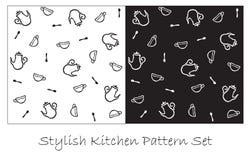 Stylish kitchen pattern Stock Photo