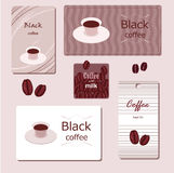 Stylish label. Stylish brown label for black coffee Vector Illustration