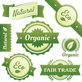 Stylish Labels for Natural,Organic,Eco,Fair Trade Stock Image