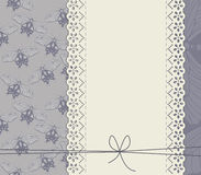 Stylish lace frame with butterflies Stock Photos