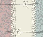 Stylish lace frame with cute flowers Royalty Free Stock Photo