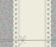 Stylish lace frame with elegant flowers Royalty Free Stock Photography