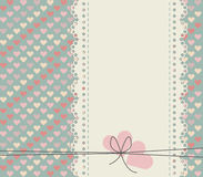 Stylish lace frame isolated on cute background with colorful hea Stock Photos